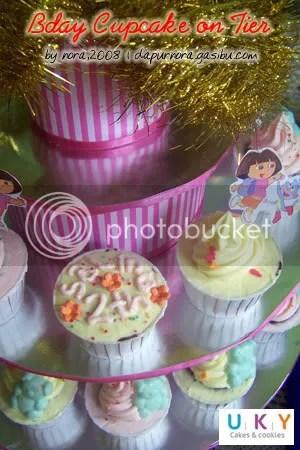 cupcake on tier