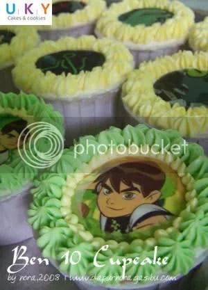 ben 10 cupcake
