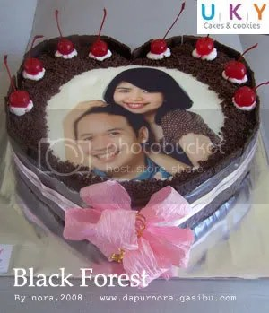 black forest edible image