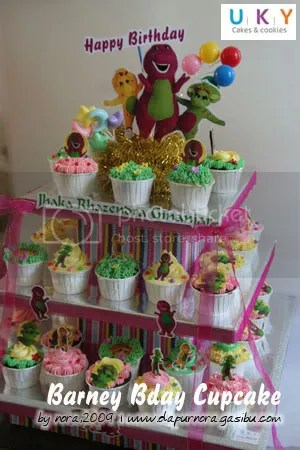cupcake barney, bandung