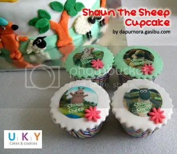 cupcake shaun the sheep bandung