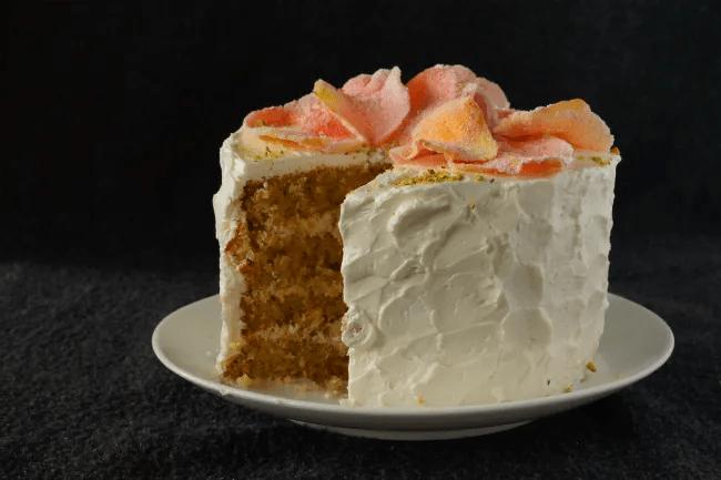 Rose & Pistachio Layer Cake | dessertcrisis