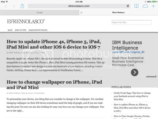 iOS 7 on iPad Mini