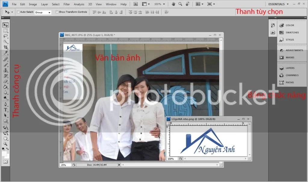 Giao diện của Photoshop CS4