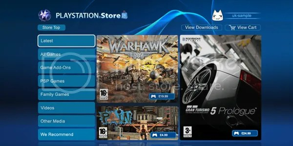 New-look PLAYSTATION Store
