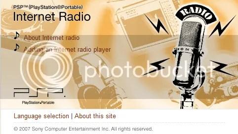 PSP Internet Radio Webpage