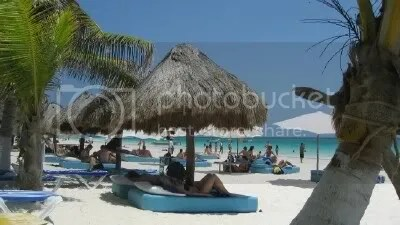 View from a lounge chair...El Paraiso Beach, Tulum, Mexico