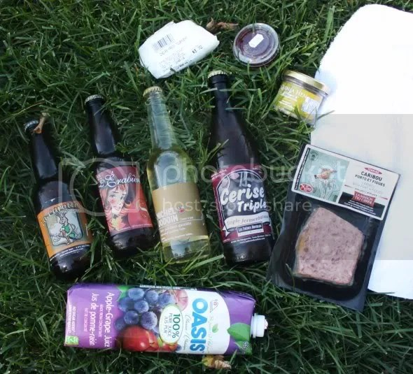 We had so many picnic goodies, we never got to the cherry beer.