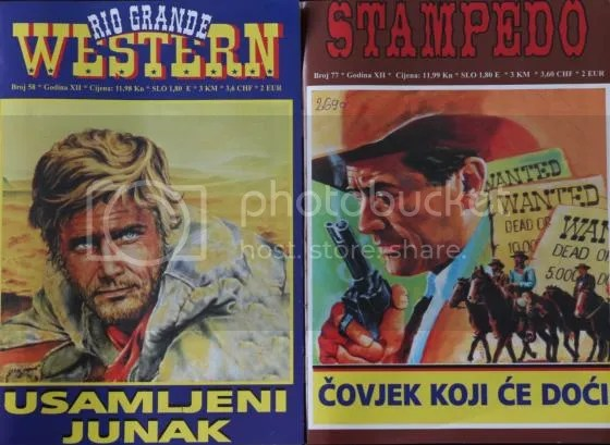Magazines from Croatia: Rio Grande Western and Stampedo.