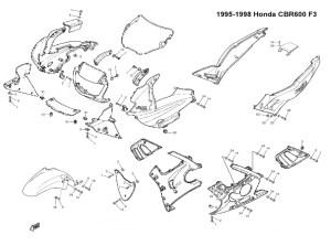 Complete Black Fairing Bolt Kit Body Screws for Honda