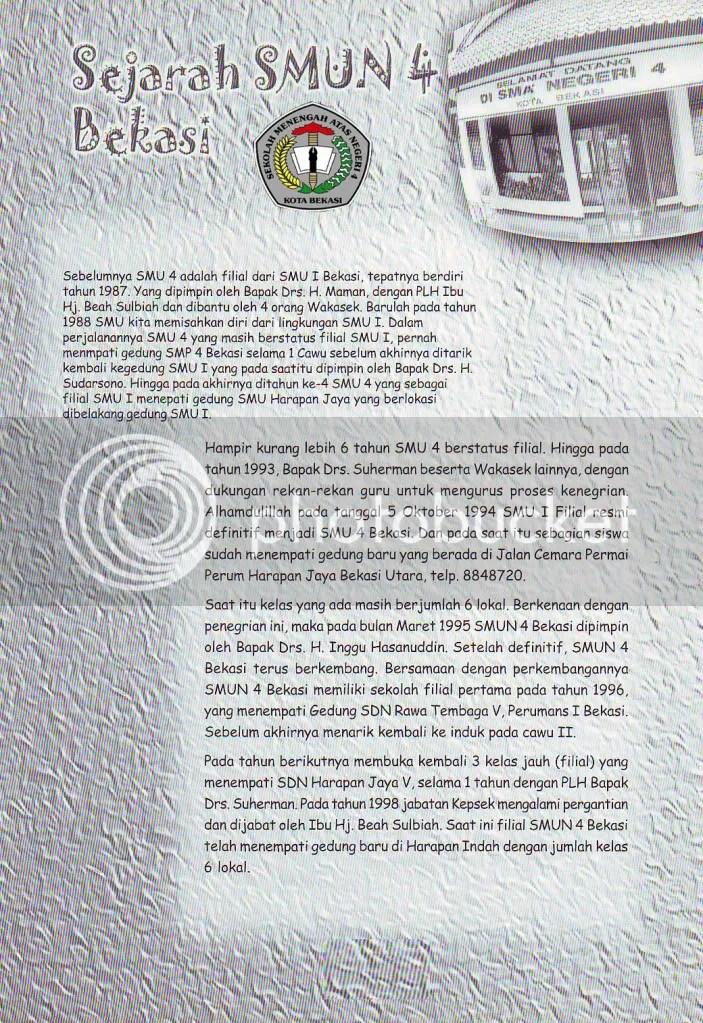 Sejarah SMA Negeri 4 Bekasi