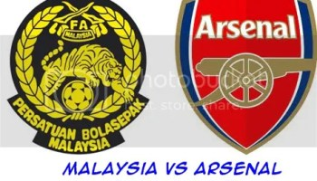 Keputusan Malaysia vs Arsenal