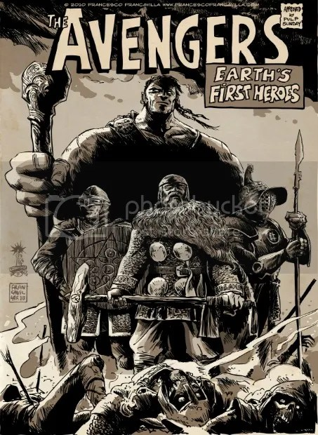 The Avengers 'Earth's First Heroes' By Francesco Francavilla