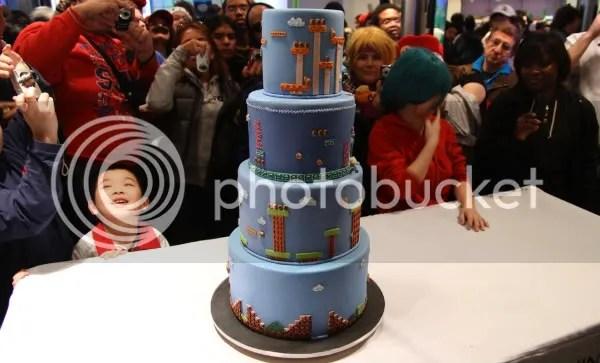 25th Anniversary Mario Cake