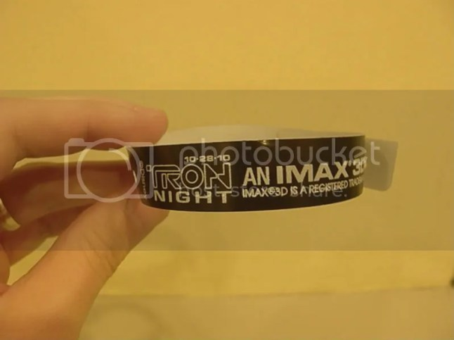 Tron Night 2010 wristband