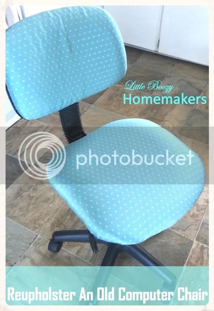 Reupholster a computer chair