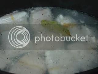 Lombos de pescada em molho cremoso e basmati