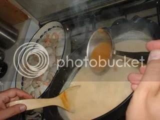 Lombos de pescada em molho cremoso e arroz basmati