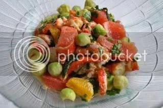 Salada de lavagante com citrinos e abacate