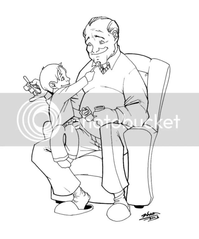 Bunicul si baiatul meu