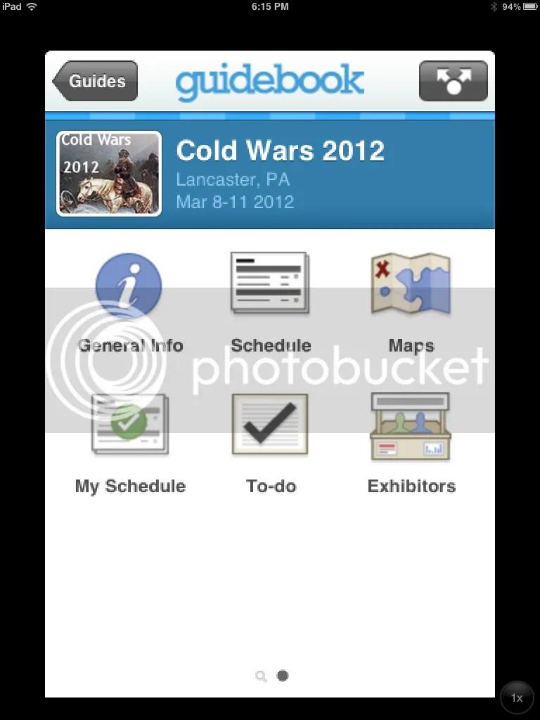 COLD WARS 2012 Guidebook App