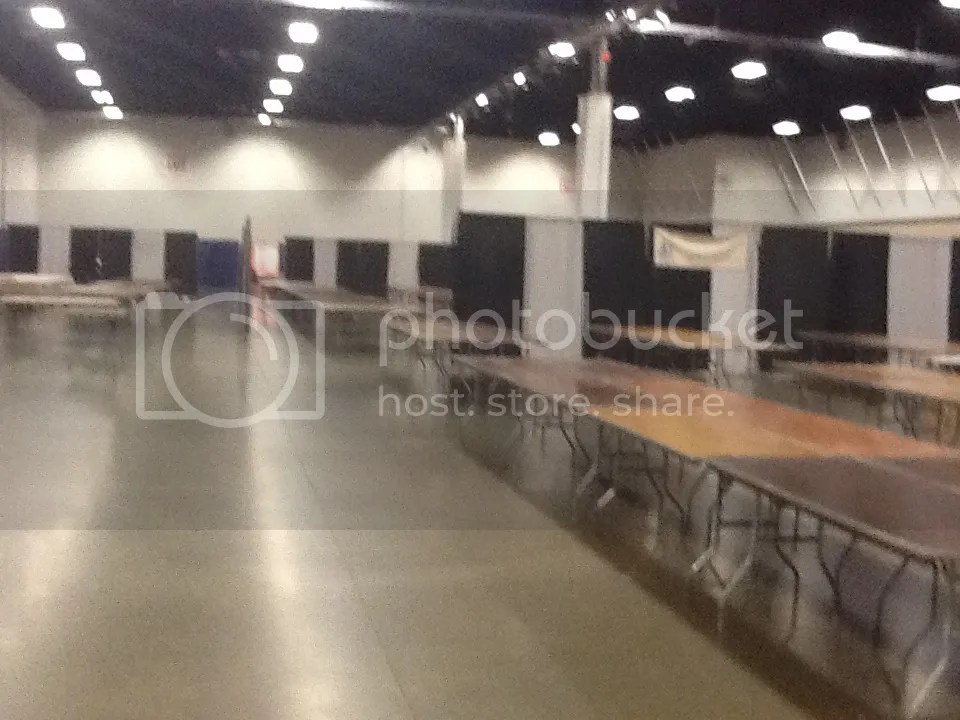 A picture of the gaming area partitions at HISTORICON 2013