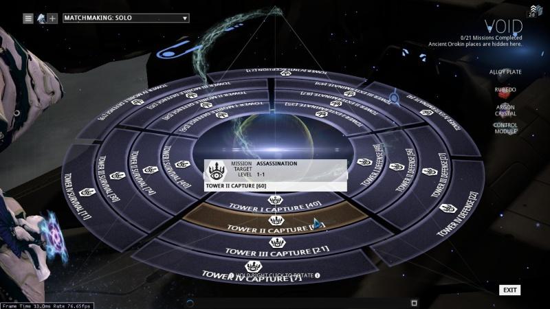 Orokin Void, Warframe: Orokin Void – i drop