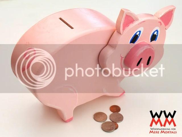 Wooden Piggy Banks