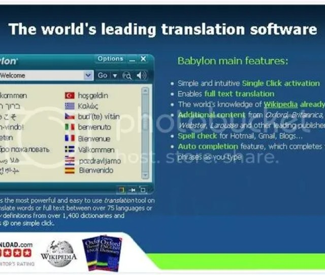 Babylon 8 Is The Worlds Leading Dictionary And Language Translation Software Babylon Offers You The Most Intuitive Tool For All Your Translation Needs