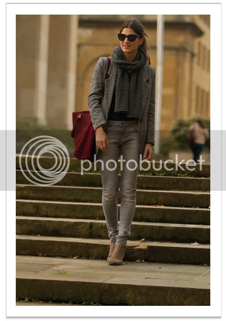 look pantalon en color gris