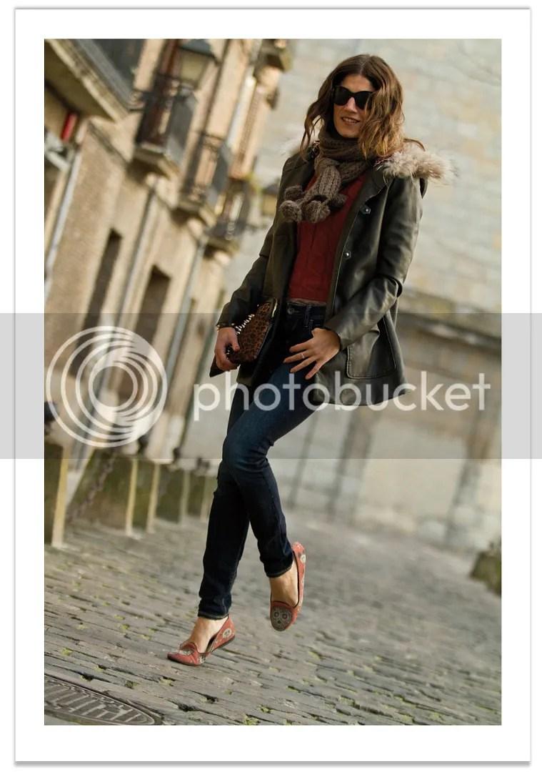 look con jeans y parka