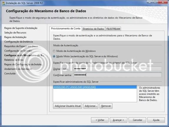Autenticação SQL
