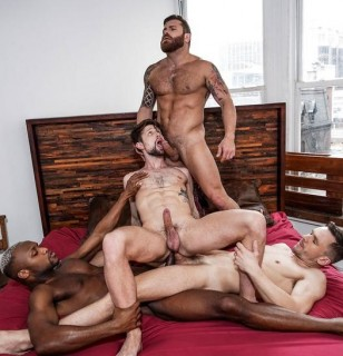Extreme Double Penetration: Andrey, Drew, Riley, Andre