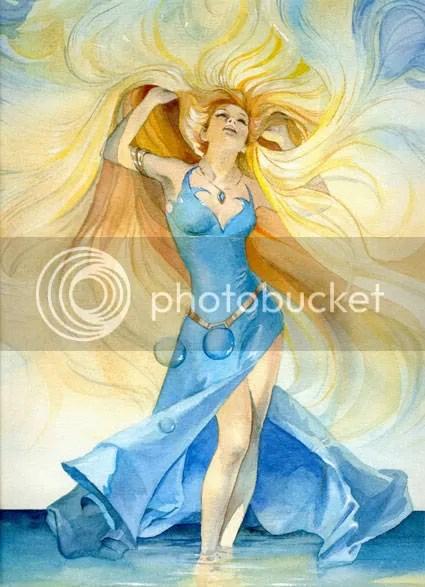 Aphrodite - Ok, la tenue n'est pas très authentique, mais ce n'a pas été facile de trouver quelque chose qui me plaise...