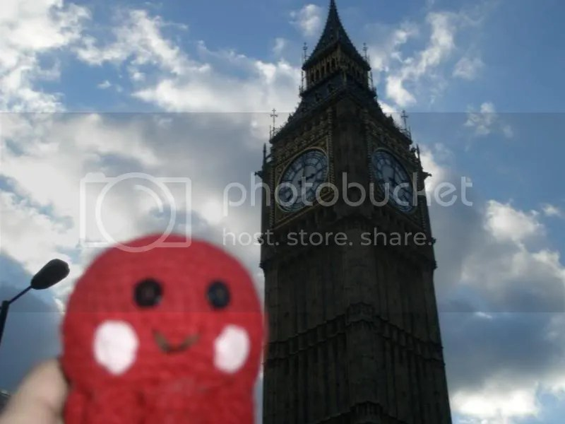 Otto with Big Ben.