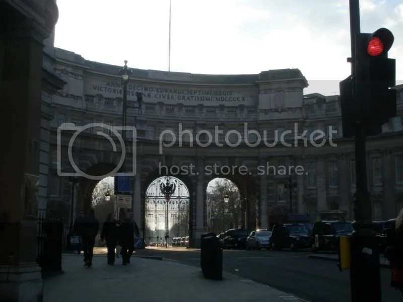 Gate thing near Trafalgar Square.