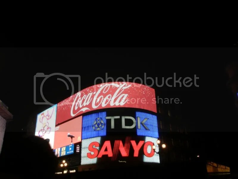 Marquee at Piccadilly Circus.