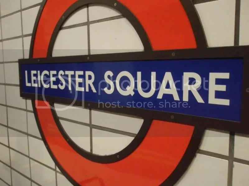 The Tube wall at Leicester Square.