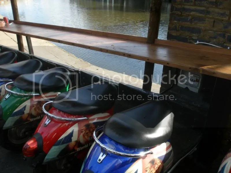 Scooter seats at Camden Market.