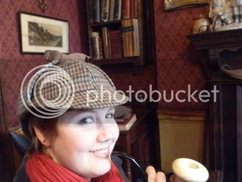 Awkward self-shot of me as Holmes.