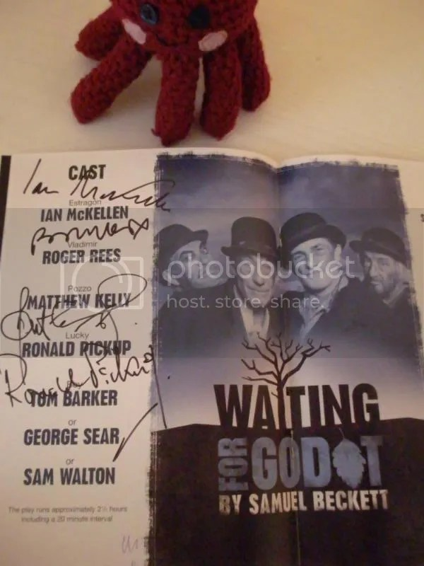 The playbill for Waiting for Godot.