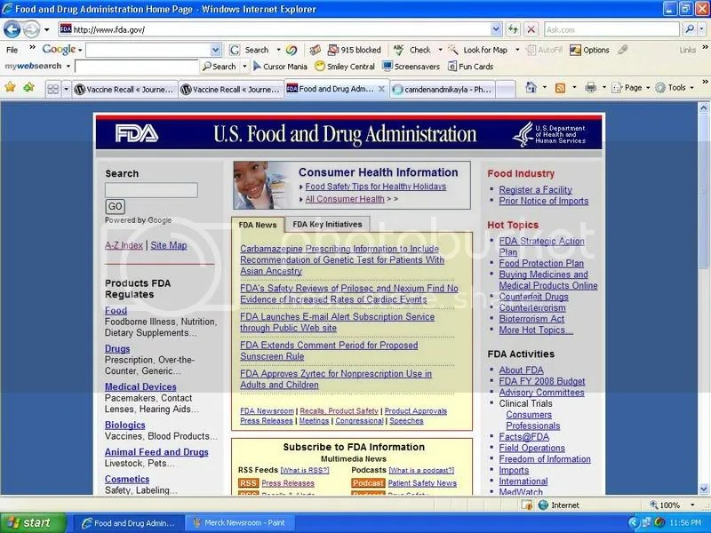 FDA Homepage Top