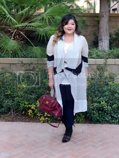 Curvy Girl Chic Plus Size Fashion Blog Long Sweater Cardigan with Jeans