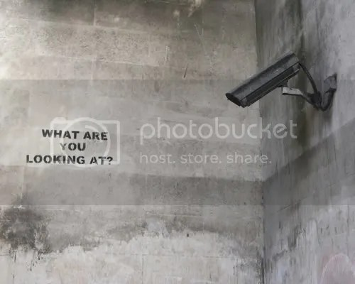 Banksy - What are you looking at?