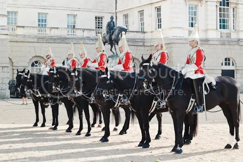 Family Visit London Horse Guards 1