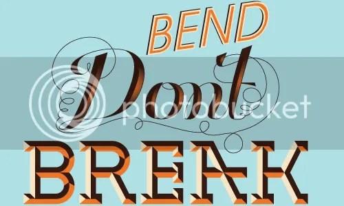 beveled lettering