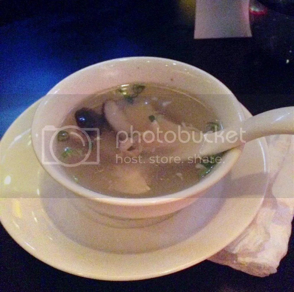 After the Yu sheng, we had some Chicken Shitake Mushroom Soup. Perfect for my cold!