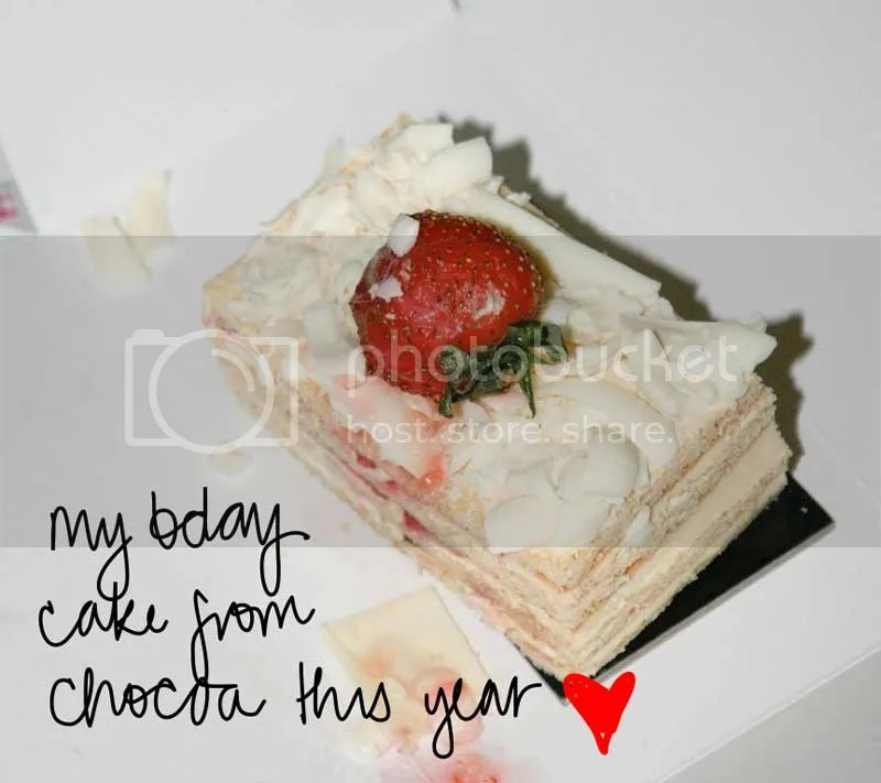 bday cake from chocoa
