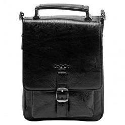 Сумка-планшет из зернистой черной кожи со съемным плечевым ремнемDr.Koffer P402140-02-04