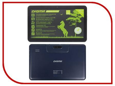 Планшет Digma Optima 10.4 3G Dark-Blue TT1004PG (Spreadtrum SC7731 1.2 GHz/512Mb/8Gb/3G/Wi-Fi/Bluetooth/GPS/Cam/10.1/1024x600/Android) 308021